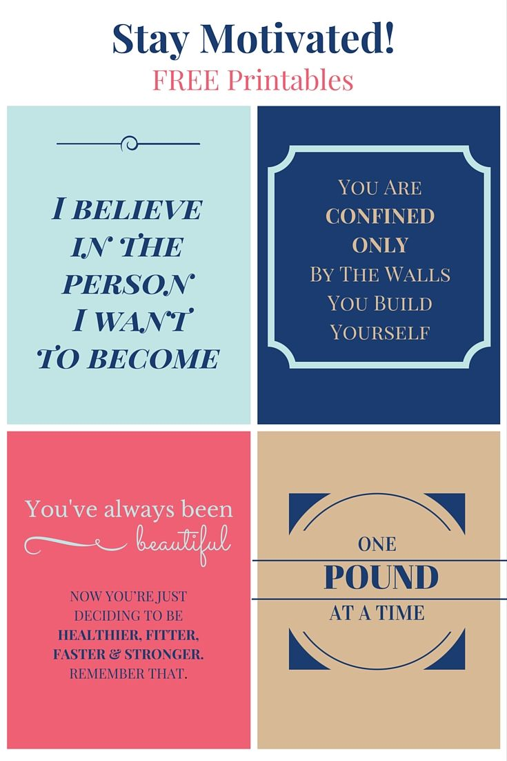 Put these motivational messages on your vision board, your mirror, fridge, dresser, or any place where they will be seen to keep you on track with your goals. | @pcosliving | free| printables | quotes