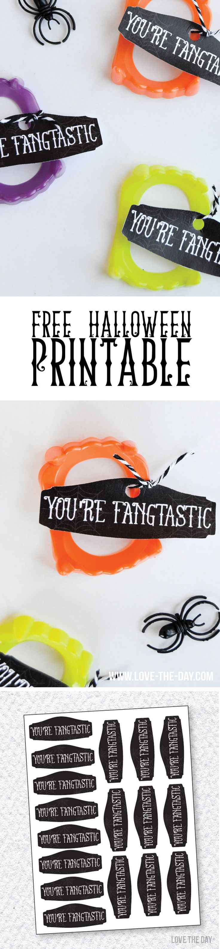 FANGTASTIC HALLOWEEN IDEA & FREE PRINTABLE by Lindi Haws of Love The Day