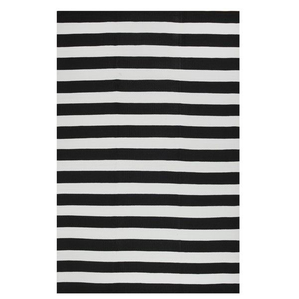 Indo Hand-woven Nantucket Black/ White Striped Contemporary Area Rug (3' x 5') - Overstock™ Shopping - Great Deals on 3x5 - 4x6 Rugs