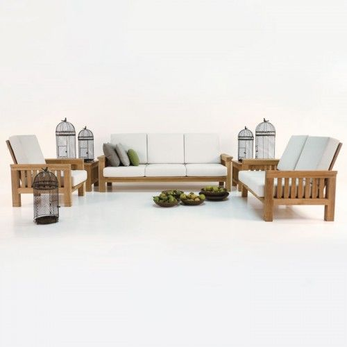 raffles teak outdoor lounge seating collection
