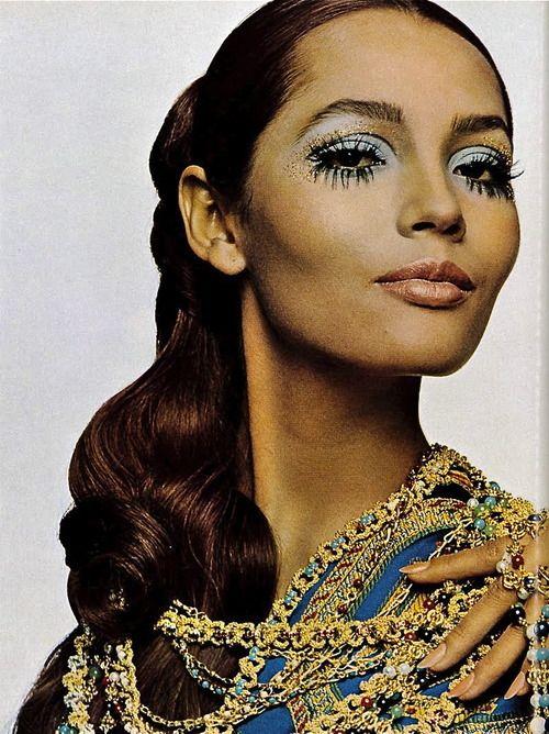 Vogue Italia, 1968 Model Barbara Carrera photographed by Barbieri