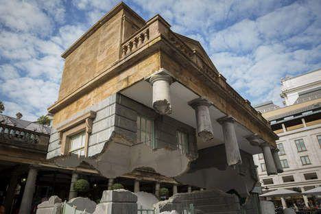 'Zwevend' gebouw is attractie in Londen - Kunst & Literatuur - De Morgen