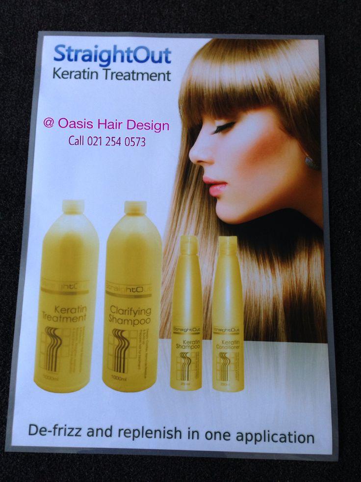 Keratin treatment at oasis hair design
