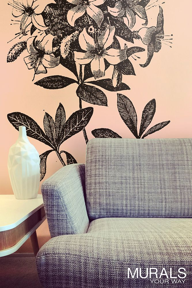 These modern floral designs aren't your grandma's wallpaper. So many options! #myMYWmural