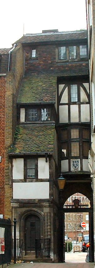 St Bartholomew Gatehouse is a fascinating fragment of old London is one of the earliest surviving timber-framed facades in the city.  It was the gatehouse to the Norman priory church of St Bartholomew-the-Great.  Part of the stone work dates back to 13th century.  Nearest tube station is The Barbican.