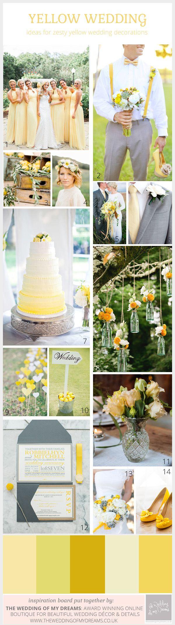 Spring Weddings: Zesty Lemon Yellow Wedding Inspiration