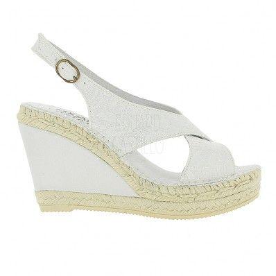 [Modelo GISELLA] alpargatas de novia blancas con esparto forrado  EduardCastilloBCN bridal espadrilles sandalias