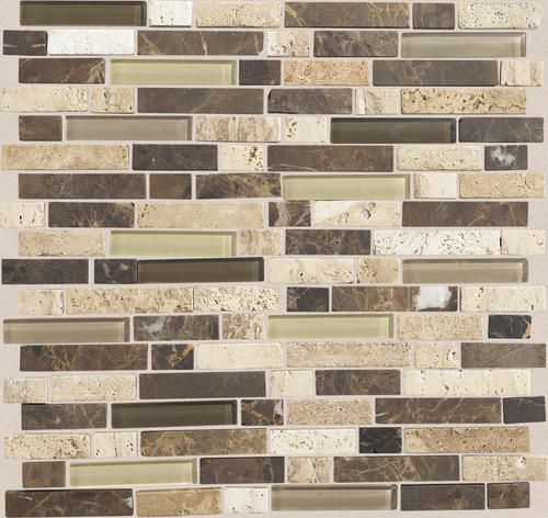 Mohawk stone radiance stone and glass mosaic wall tile 5 8 for Menards backsplash