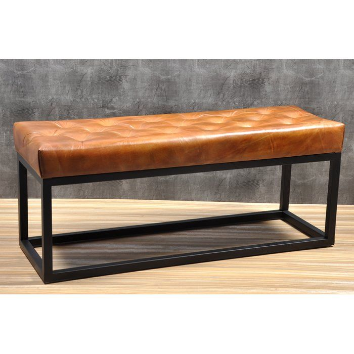 Adelinda Metal And Leather Bench Leather Bench Bench Furniture End Of Bed Seating