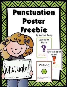 This is a FANTASTIC set of Punctuation Posters offered as a  FREEBIE (THANK YOU)