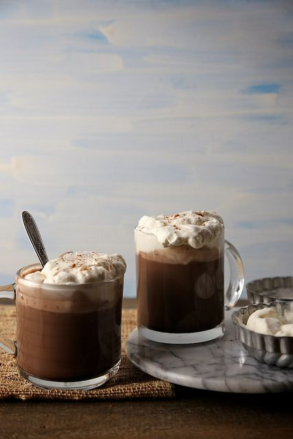 Spicy and delicious cinnamon hot chocolate.