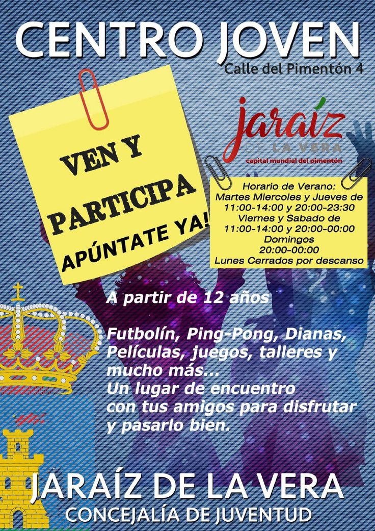 Nuevo horario del Centro Joven de Jaraíz
