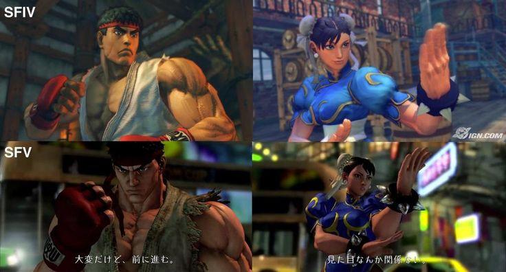 Graphics comparison between Street Fighter IV & Street Fighter V.
