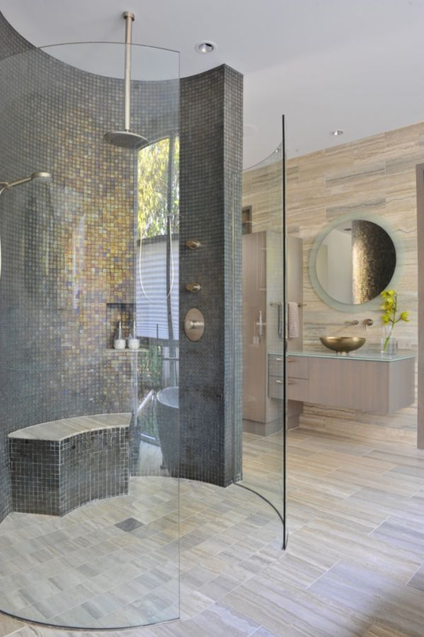 This glamorous contemporary bathroom was completed by Key Residential. #luxeDallas