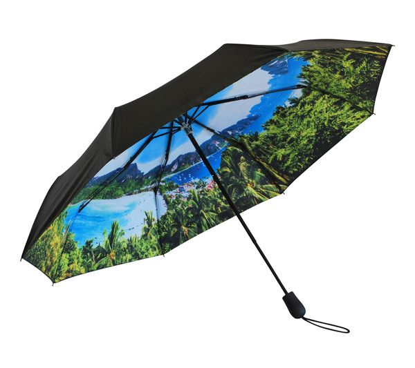 'Jungle Tropics' Folding Umbrella | Where I'd Rather Be | http://www.whereidratherbe.co.uk/products/jungle-tropics-folding-umbrella