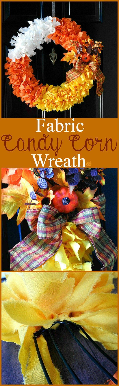 How to make a fabric candy corn wreath. sewlicioushomedecor.com