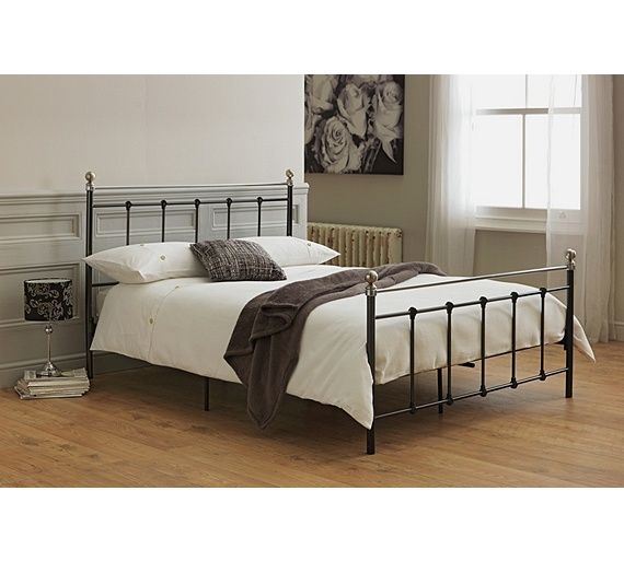 buy collection eversholt double bed frame black at argoscouk visit