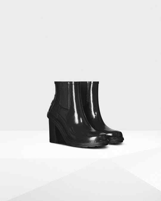 NWOB HUNTER Original Refined Chelsea Block Heel Rain Boot #49 BLACK US 6 | Clothing, Shoes & Accessories, Women's Shoes, Boots | eBay!