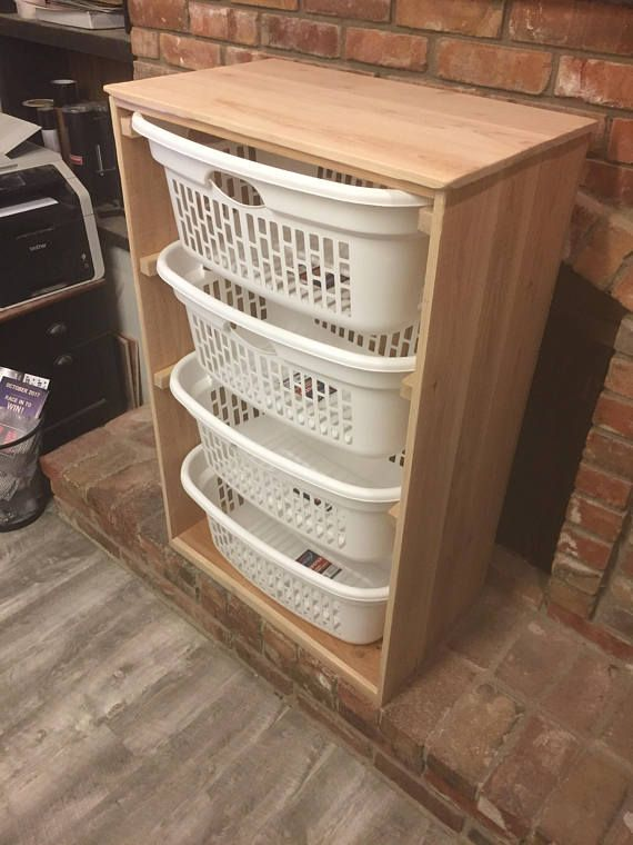 4 Laundry Basket Holder Laundry Room Decor Laundry Organizer Laundry Basket Organizer Laundry Furniture Clothes Basket Organizer Cabinet Laundry Basket Holder Laundry Room Decor Laundry Basket Organization