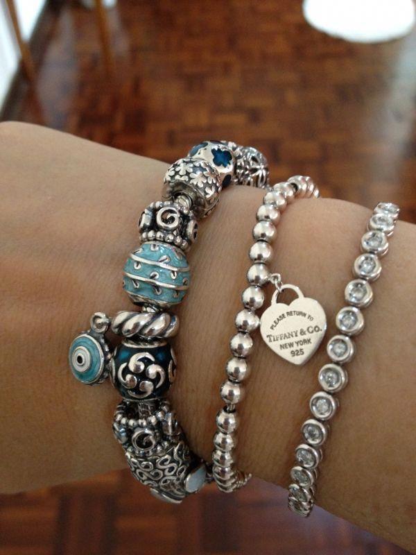 f7e7dad6e Pin by Kim Greer on Pandora jewellery in 2019 | Jewelry, Tiffany bracelets, Pandora  bracelet charms