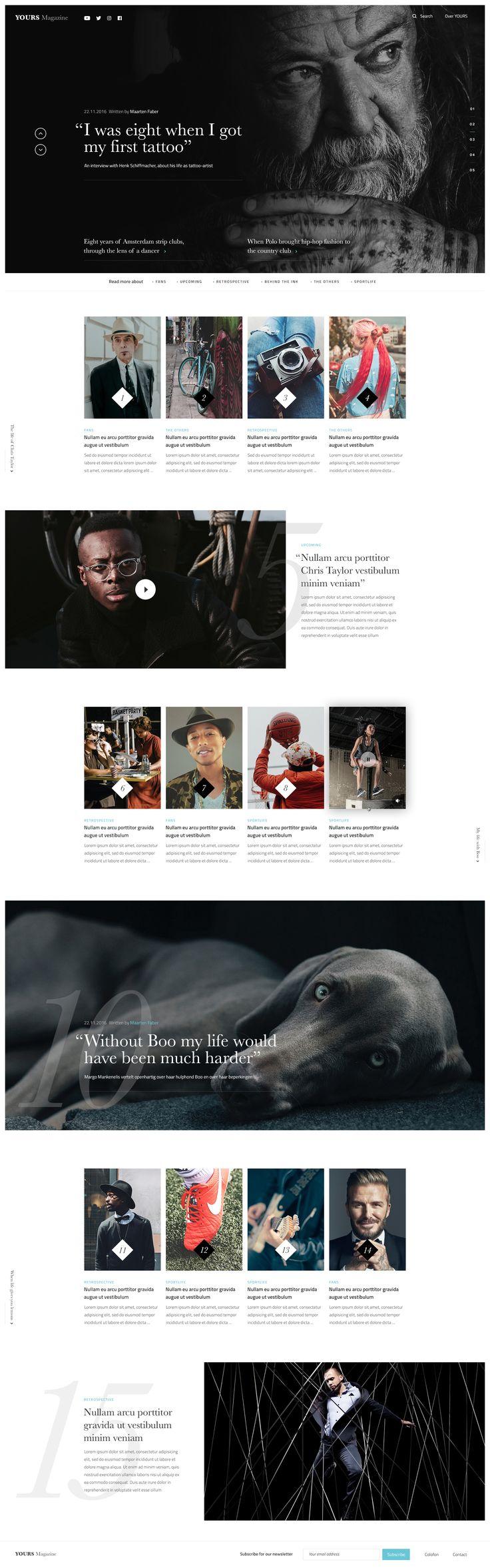 Magazine homepage - Ui design concept exploration by Bart Ebbekink.