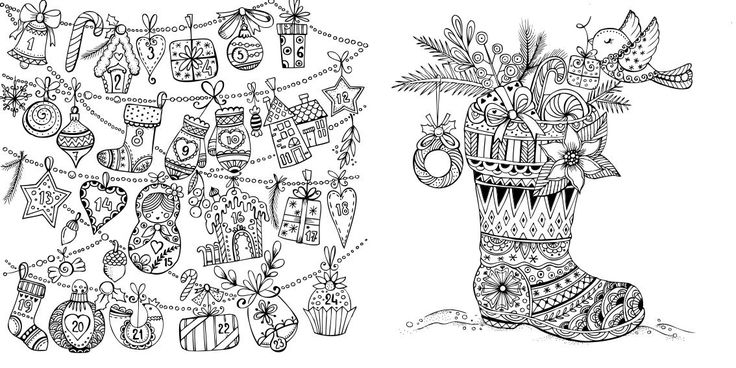140 Best CHRISTMAS COLORING Images On Pinterest