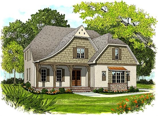 75 best front porch images on pinterest exterior colors for Tudor cottage house plans