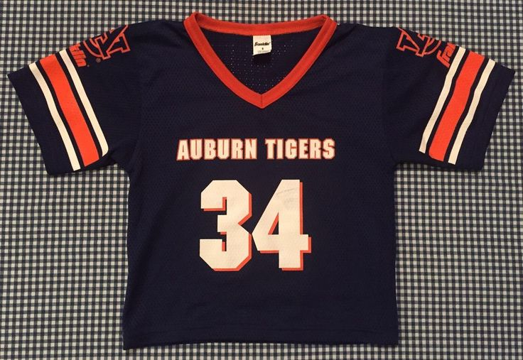 Vintage Auburn University Tigers Franklin Football Jersey Size Youth Small #34 #Franklin #AuburnTigers
