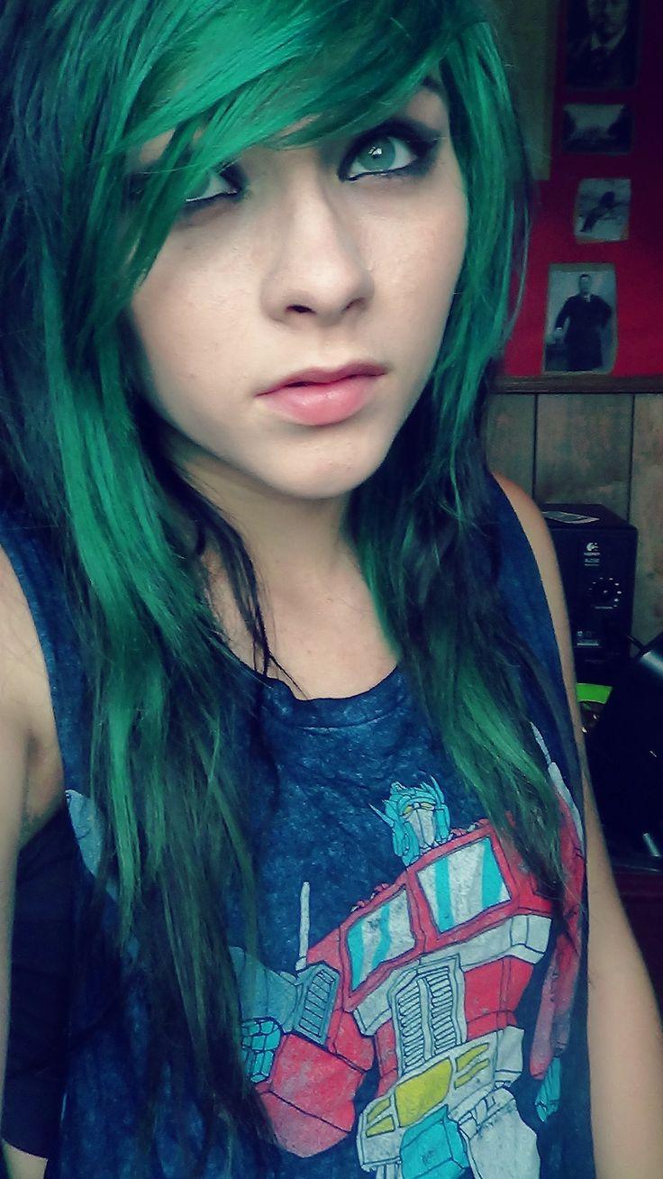 crazy green & yellow hair