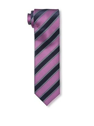 61% OFF Massimo Bizzocchi Men's Textured Stripe Tie, Pink/Navy