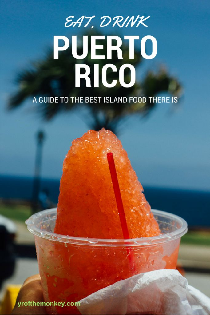 Your ultimate food guide to Puerto Rico, the Caribbean Island nation filled with vibrant colors and spicy flavors.