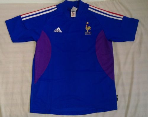 France #football team home #shirt 02/03 by #adidas,  View more on the LINK: 	http://www.zeppy.io/product/gb/2/262665110045/