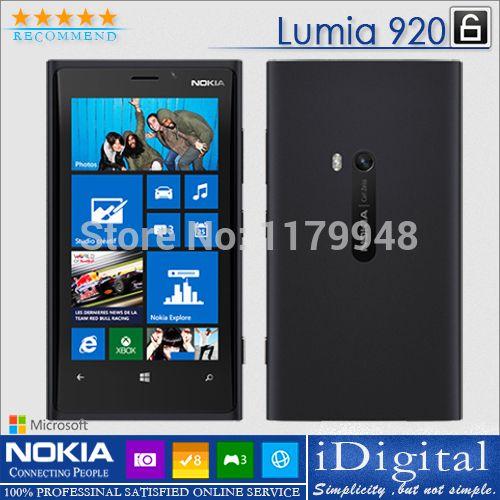 Barato Original Nokia Lumia 920 desbloqueado 4.5 '' IPS Win 8 OS 32 GB Dual Core 1.5 GHz mp 3 G NFC GPS SmartPhone Refurbished, Compro Qualidade Celulares diretamente de fornecedores da China:                                                   Original desbloqueado telemóvel             bateria