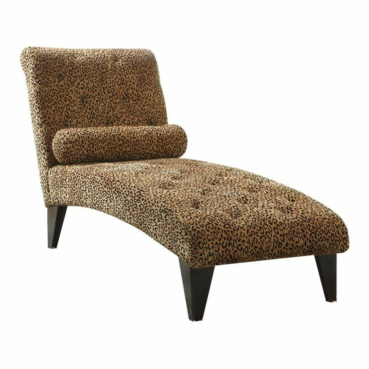 Velvet leopard chaise lounge in brown bedroom remodel for Brown chaise lounge