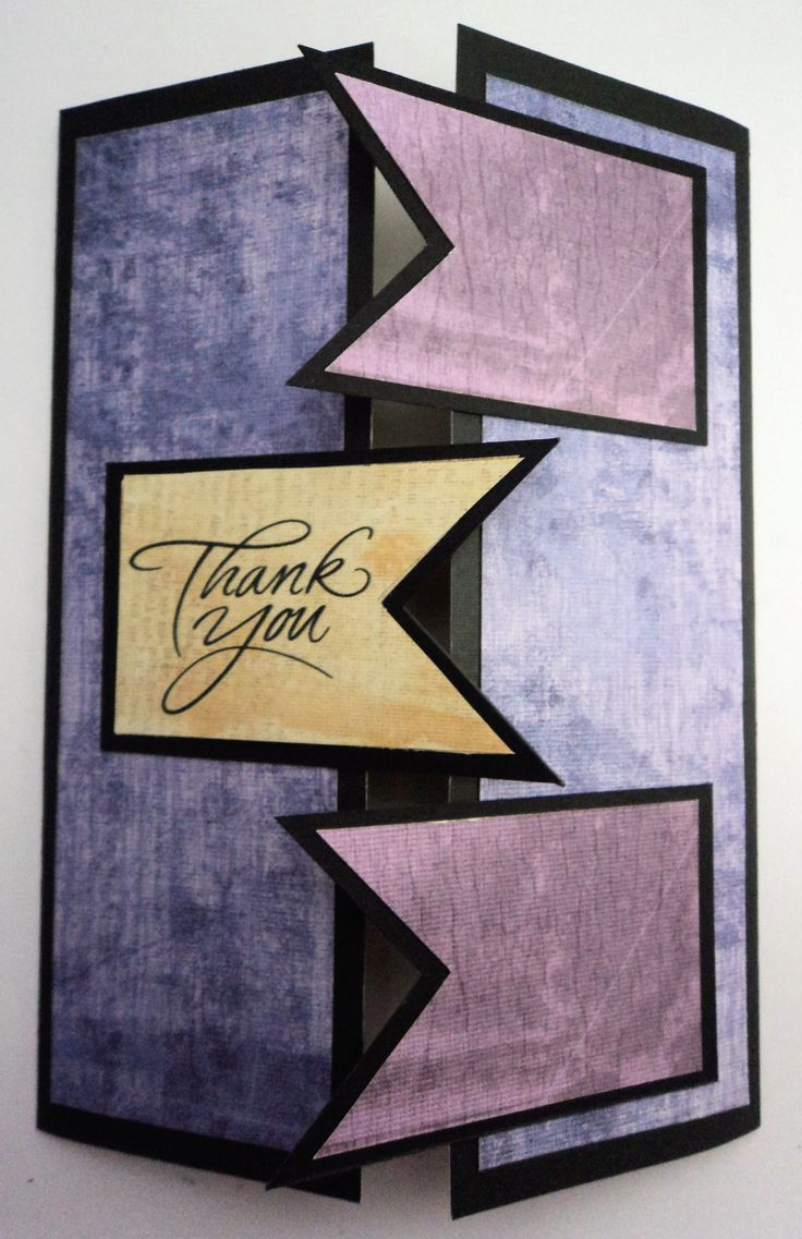 This is a creative and stylish thank you card perfect for your friends and family.