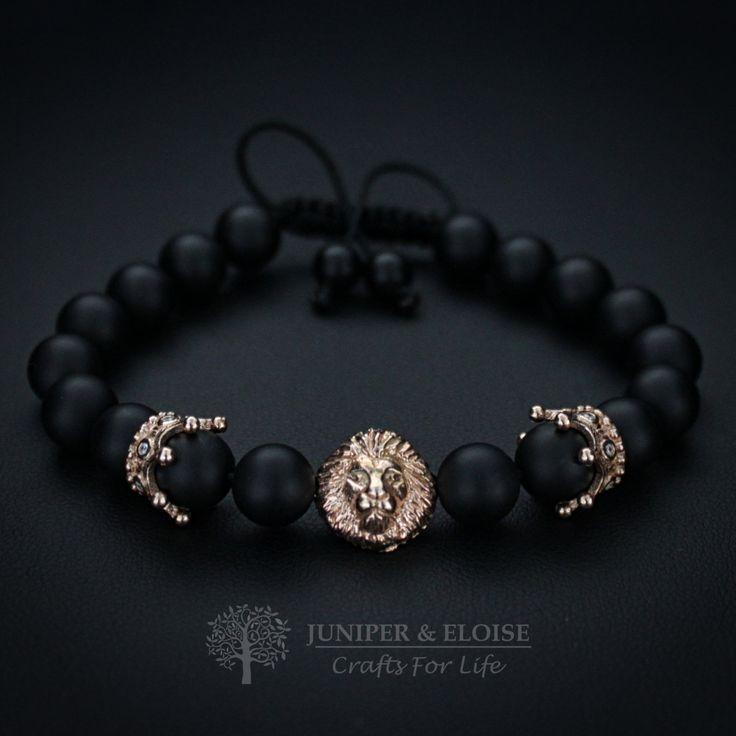 Lion Bracelet Christmas Gift, Womens Jewelry, Gift Ideas, Royal Crown, Valentines Day Gift, Lion King Bracelet, braccialetto pulsera armband by JuniperandEloise on Etsy