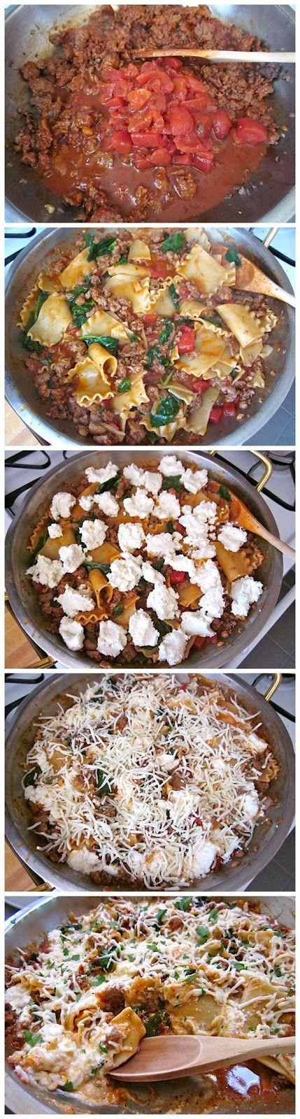 skillet lasagna ~ toprecipeblog