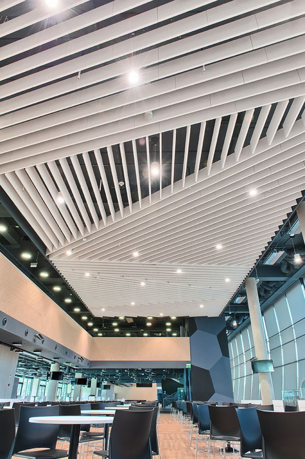Mineral wool acoustic baffle - OPTIMA - Armstrong ceilings - Europe