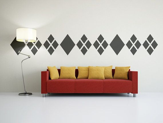 Wall Decal Geometric Diamond Argyle Abstract  by WallStarGraphics, $95.00