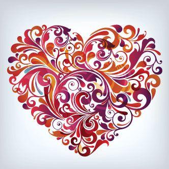 Corazón con arabescos