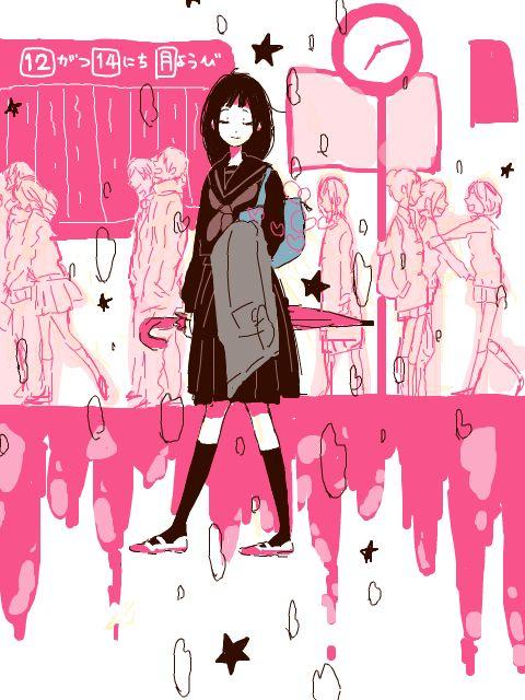 girl, pink, and anime image
