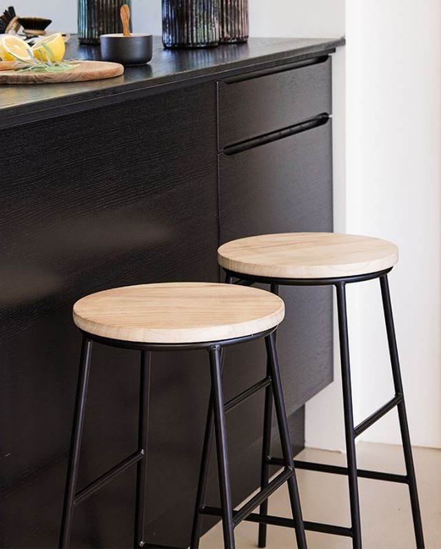 """""""Perfect for both short and long legs,"""" Clara says. Bar stool, in stores now! Price per item DKK 178,00"""