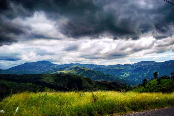 Rain moves in over Gonaives, Haiti. @tl.cervantes @natgeoyourshot