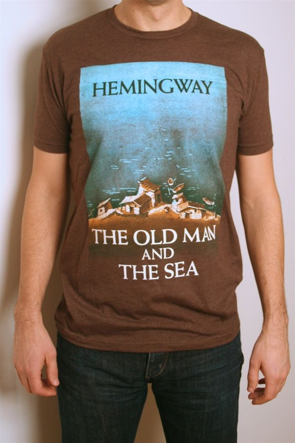 Vintage Book Cover Shirts : The old man and sea book cover t shirt