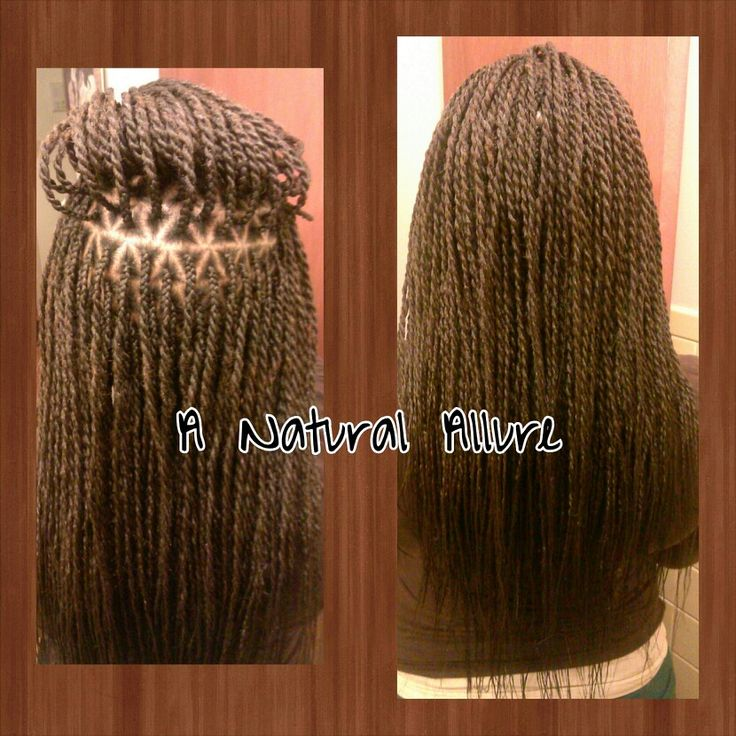 Senegalese Twists With Triangle Shaped Parts X Pression