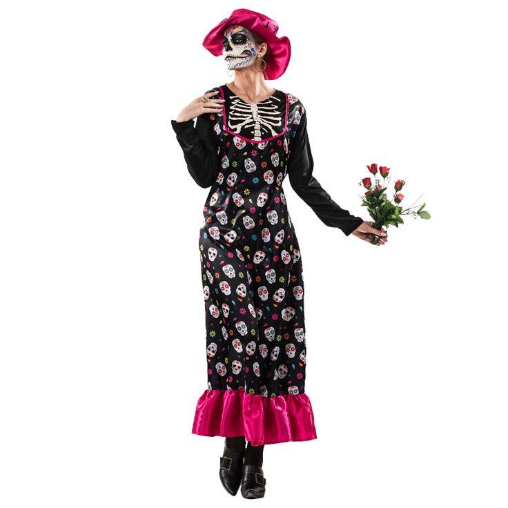 Disfraz de Catrina Mexicana Adulto #tienda #disfraces #halloween #novedades