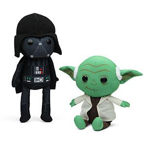 Pretty sure I have to have these once baby boy Lorenz can have plush/rag toys in his crib.    ThinkGeek :: Star Wars Rag Doll Plush