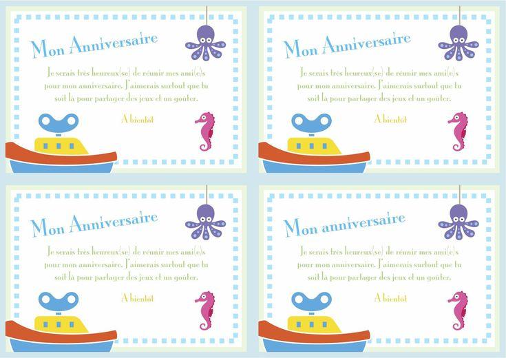 Carte D'invitation Anniversaire Gratuite À Imprimer Hugo L'escargot Awesome Carte D Anniversaire ...