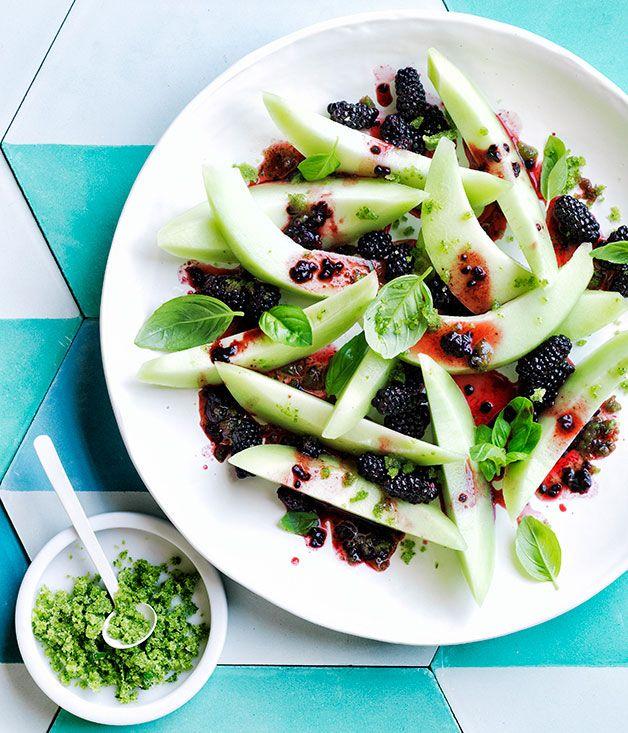 Honeydew, blackberry and basil