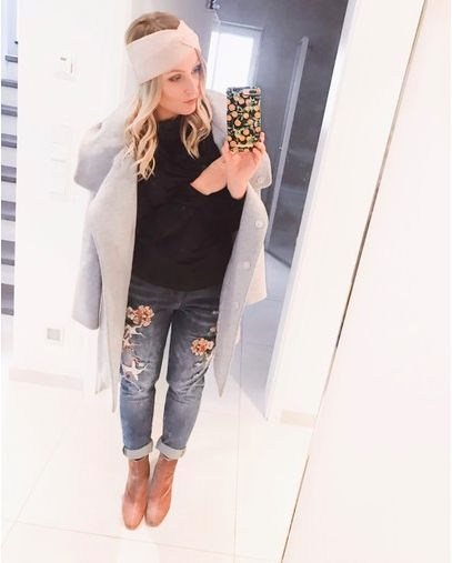 ♥♥♥ Outfit - Winter Outfit - Damen Mode - Boyfriend Jeans - Hallhuber - Ideal of sweden ♥♥♥ #outfit #outfitinspiration